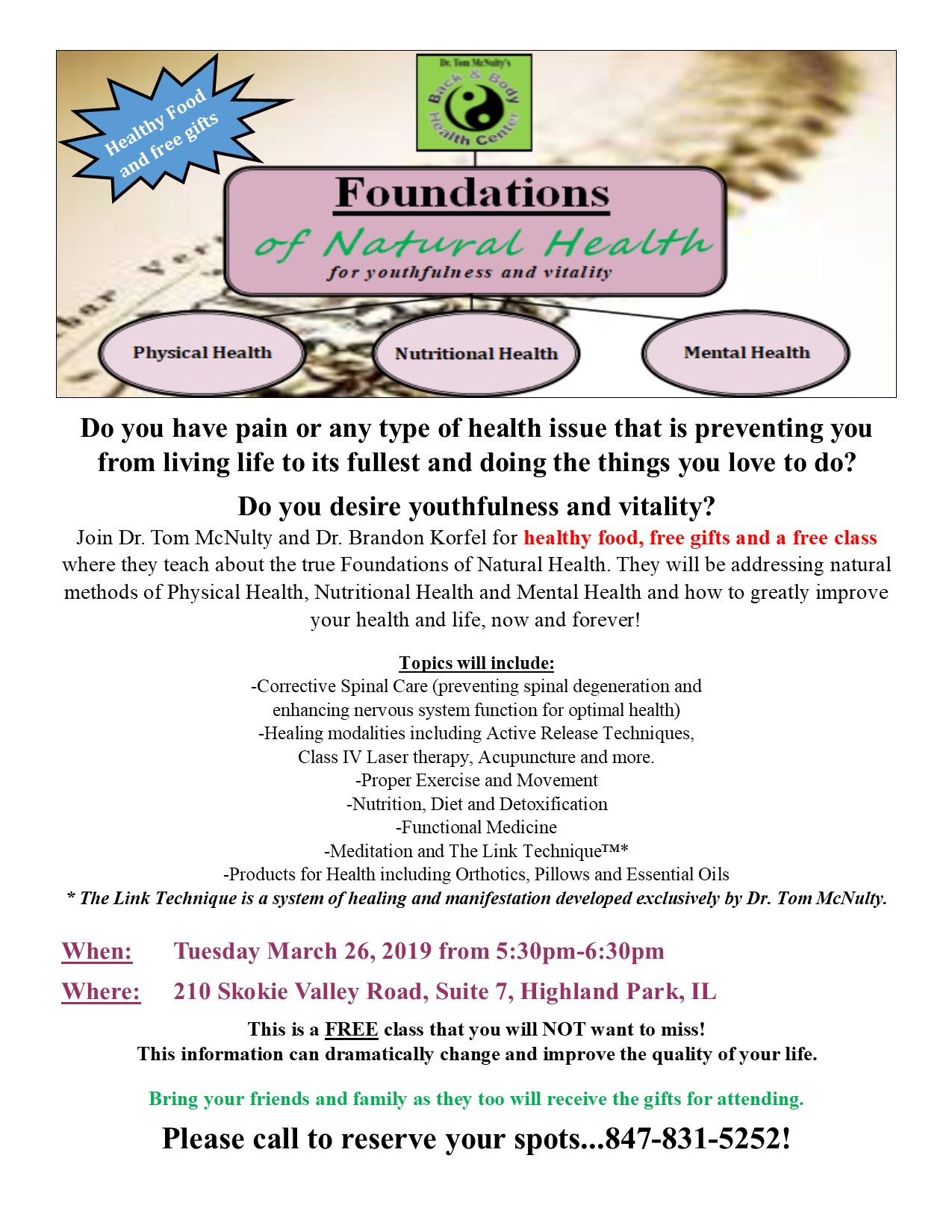 Foundations Class Flyer